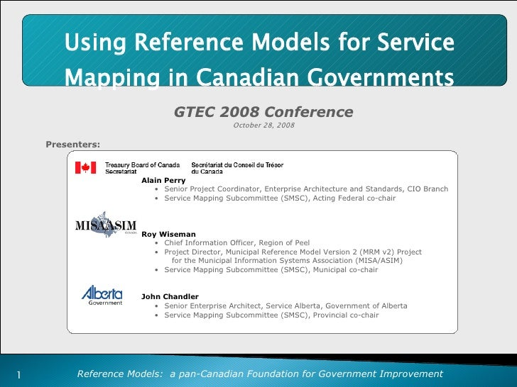 Using Reference Models For Service Mapping In Canadian Governments