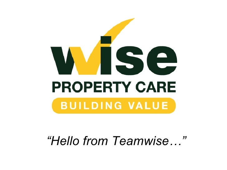 """"""" Hello from Teamwise…"""""""