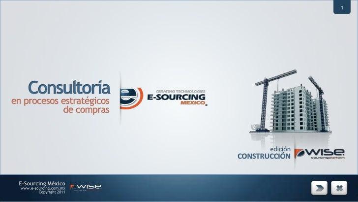 1<br />Consultoría<br />en procesos estratégicos <br />de compras<br />edición<br />CONSTRUCCIÓN<br />