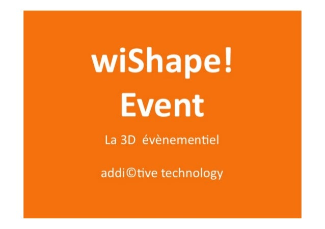 Wishape event