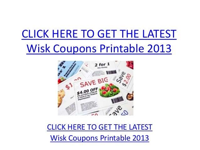 Wisk Coupons Printable 2013 - Wisk Coupons Printable 2013