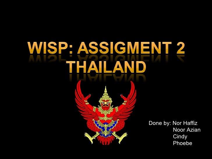 Wisp Presentation - Thailand