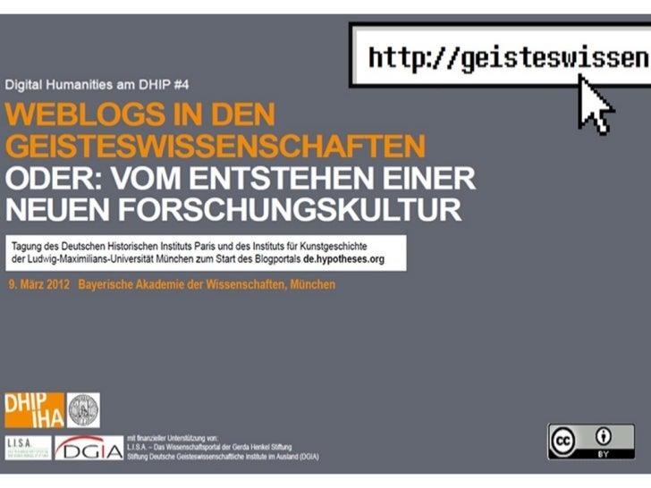 Was ist ein       Wissenschaftsblog?                  Cornelius PuschmannInstitut für Informations- und Bibliothekswissens...