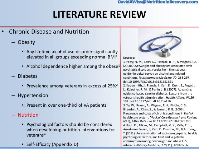 nutrition literature reviews Aspen's journal of parenteral and enteral nutrition (jpen)  also included are: reviews,  cumulative index to nursing and allied health literature,.