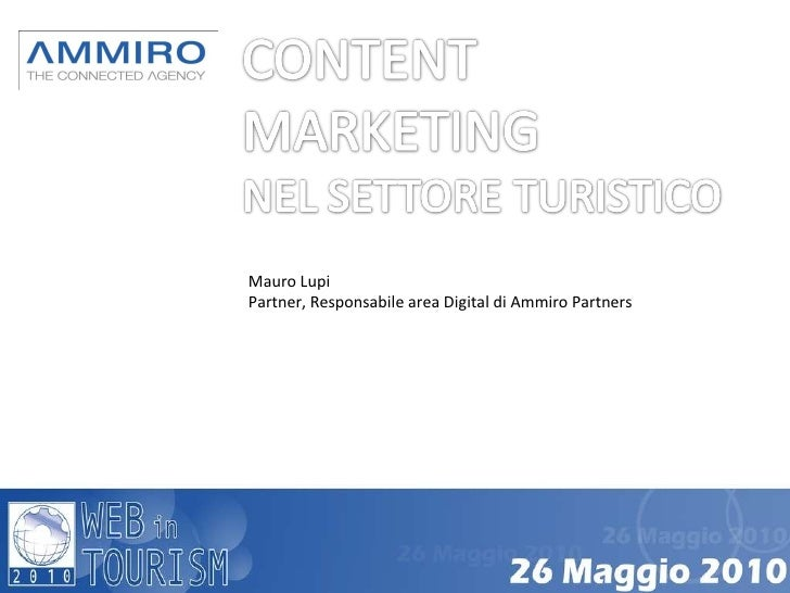Content marketing nel settore turistico