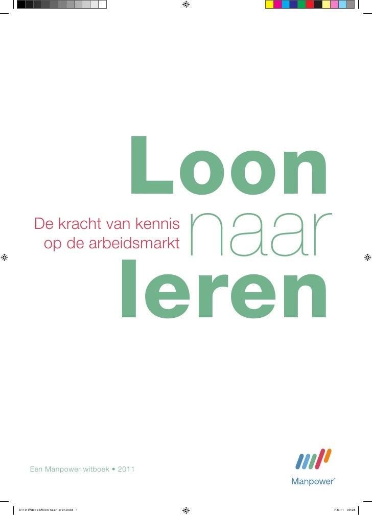 Loon Naar Leren - Witboek