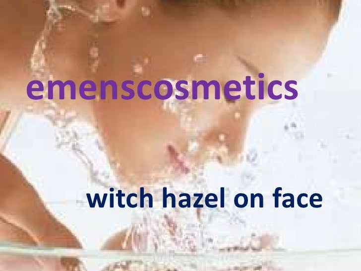 emenscosmetics   witch hazel on face