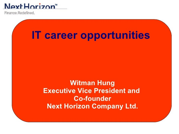 IT Career Opportunities