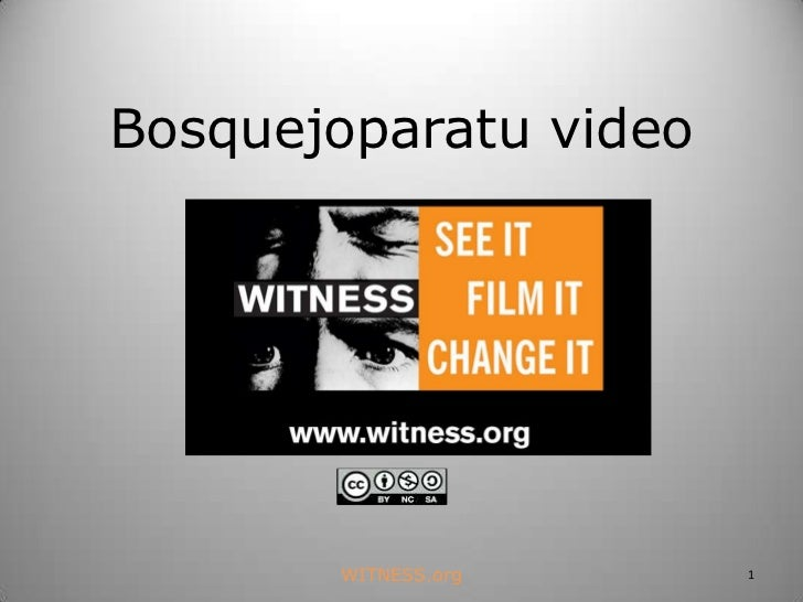 Witness curriculum 10-bosquejo para tu video-2011