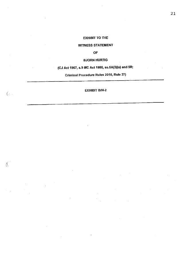 Assange EAW case: Bjorn Hurtig Witness Exhibit 2