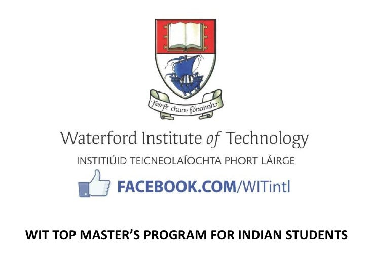 WIT TOP MASTER'S PROGRAM FOR INDIAN STUDENTS
