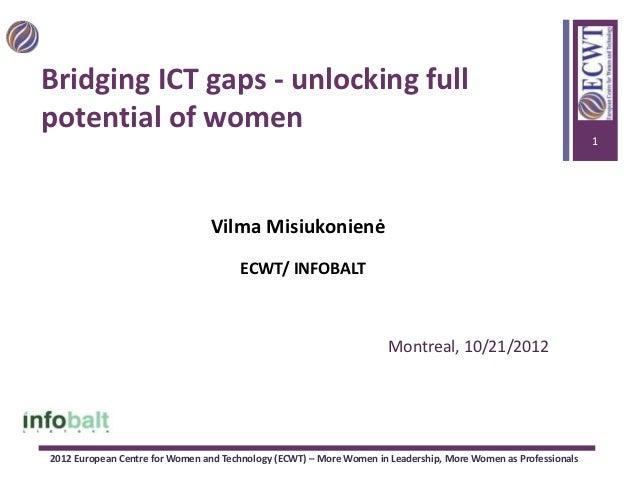 Witsa 2012 - Bridging ICT Gaps