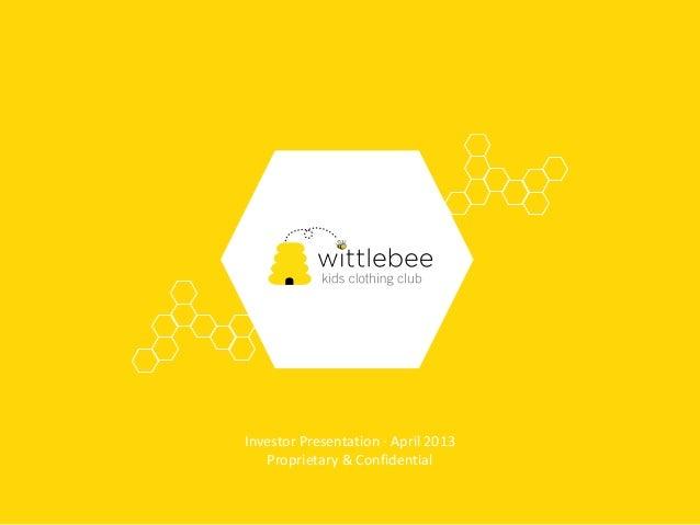 Wittlebee Fundraising Deck