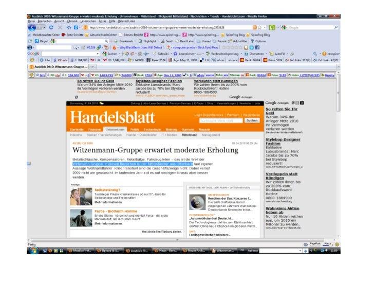 Handelsblatt Artikel - Witzenmann # Fail