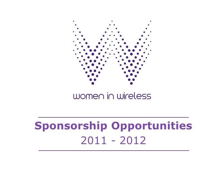 Sponsorship Opportunities       2011 - 2012
