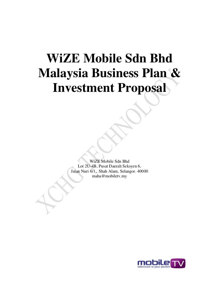 WiZE MobileTv Malaysia Business Plan & Investment Proposal