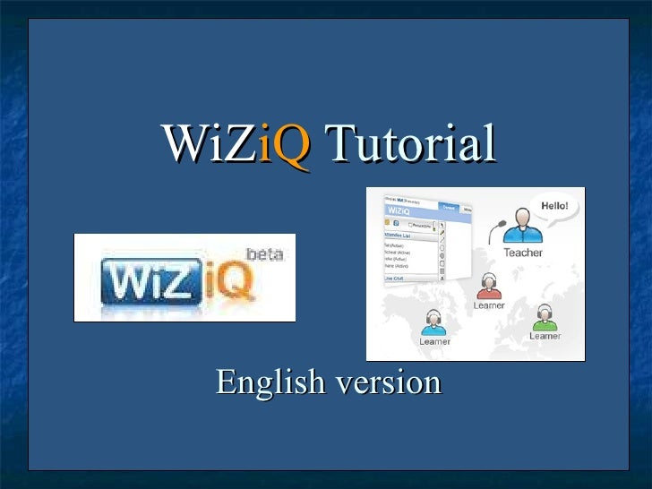 WiZiQ Tutorial   English Version