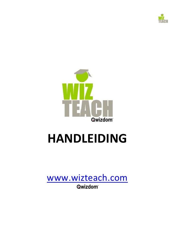 HANDLEIDING  www.wizteach.com