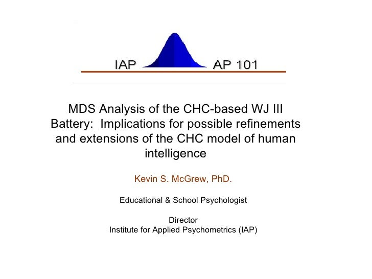 Cluster analysis of the WJ III Battery:  Implications for CHC test interpretation and possible CHC model extensions Kevin ...