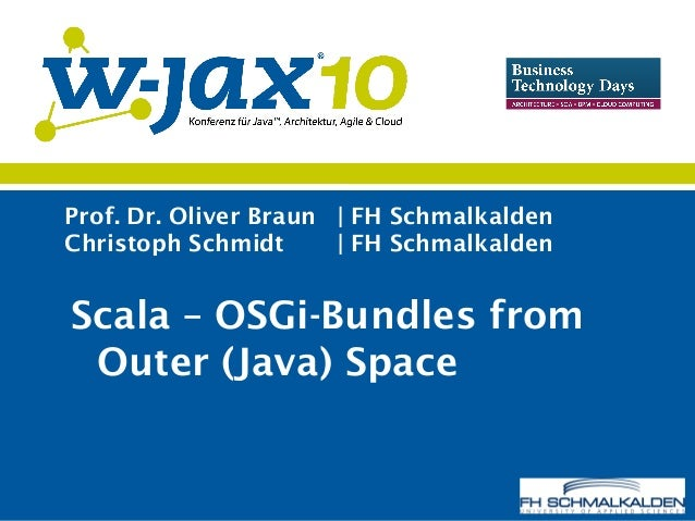 Scala - OSGi Bundles from Outer (Java) Space