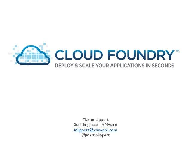 PaaS Parade - Cloud Foundry