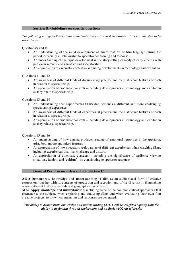 Film Studies Personal Statement, HELP!?