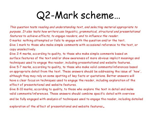 Ocr English Literature A Level Coursework Mark Scheme