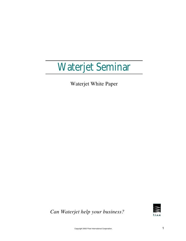 WaterJets  Overview  White  Paper