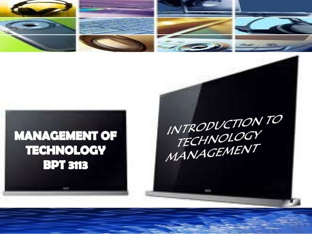 Wk 1   technology mgmt.