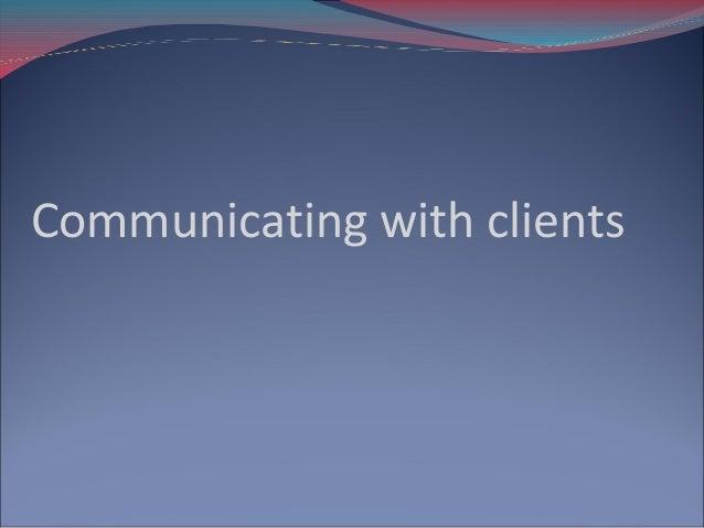 Communicate Wk 4