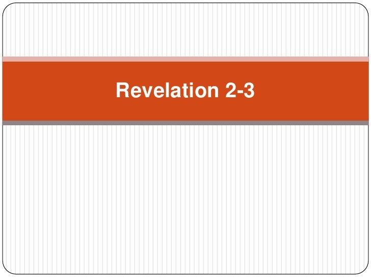 Wk6 Revelation 2 3