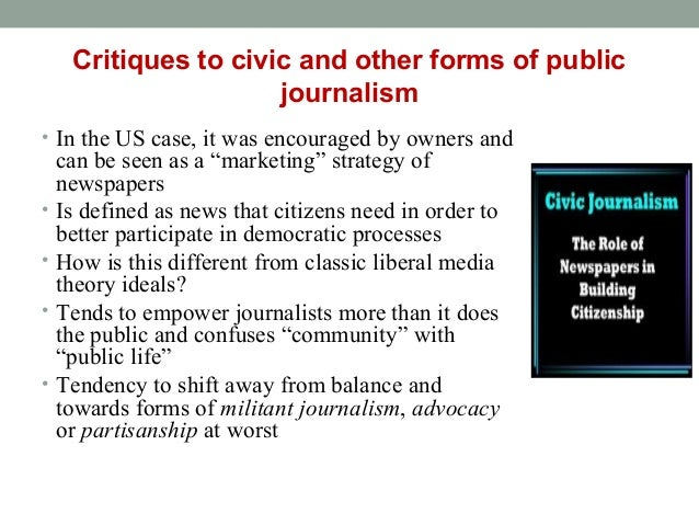 role of journalism in a democracy As news organizations and policy makers contemplate ways to advance the role of strong journalism as essential to never miss a story from trust, media and democracy.