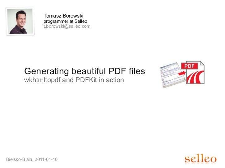 Generating beautiful PDF files
