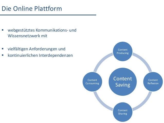 ContentSavingContentProducingContentReflexionContentSharingContentConsumingDie Online Plattform webgestütztes Kommunikati...