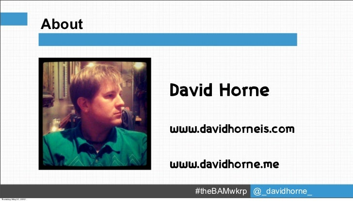About                                       David Horne                           Product 1                               ...