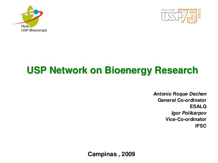 USP Network on Bioenergy Research