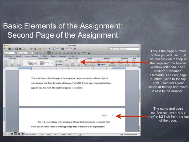 Assignment Page Numbering This is The Page Number Button