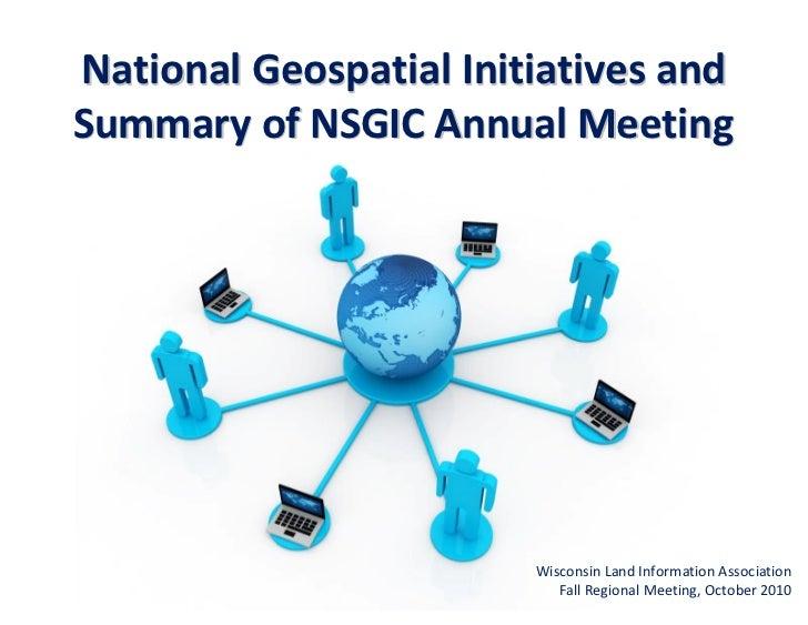 Fall 2010 National Geospatial Initiatives