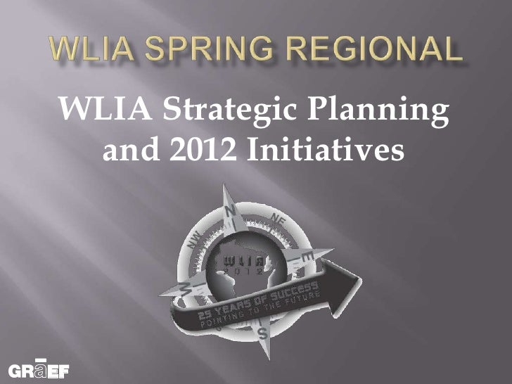 WLIA Strategic Planning and 2012 Initiatives