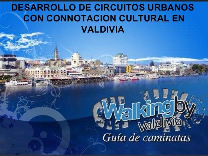 DESARROLLO DE CIRCUITOS URBANOS  CON CONNOTACION CULTURAL EN VALDIVIA