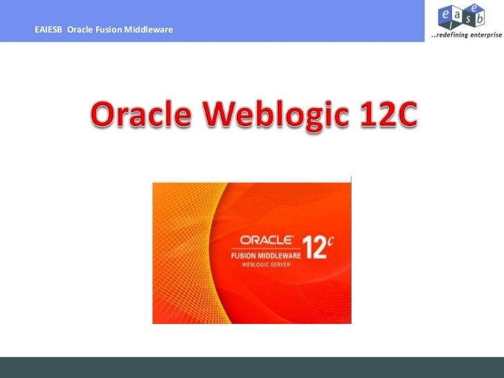 EAIESB Weblogic 12C