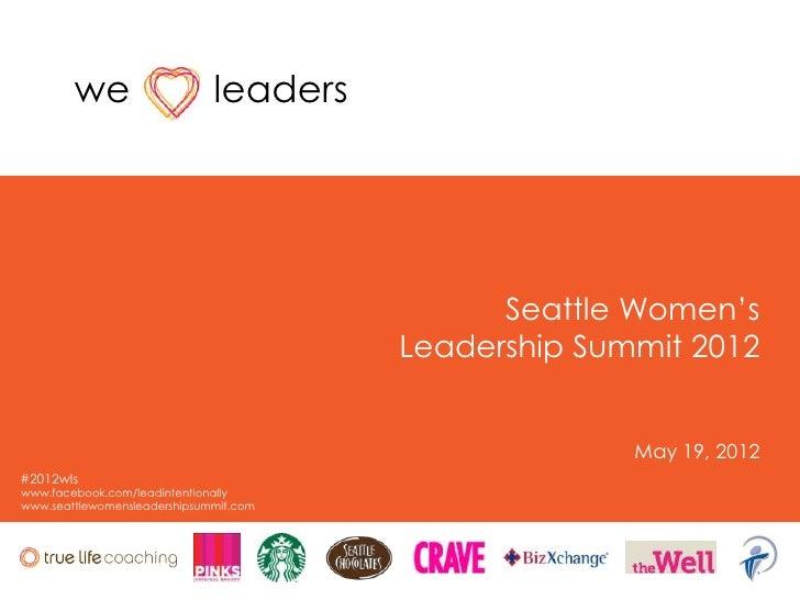 """we                    leaders                                              Seattle Women""""s                                ..."""