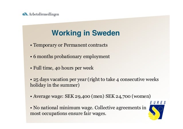 official working hours in sweden