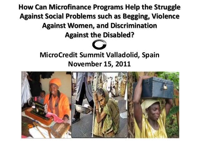 William Maddocks Microfinance to Help Manage Social Problems