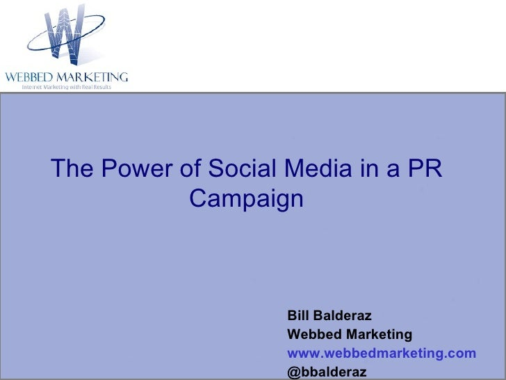 The Power of Social Media in a PR Campaign