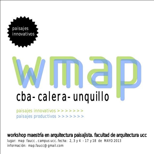 Wmap 2013   workshop maestria en arquitectura paisajista