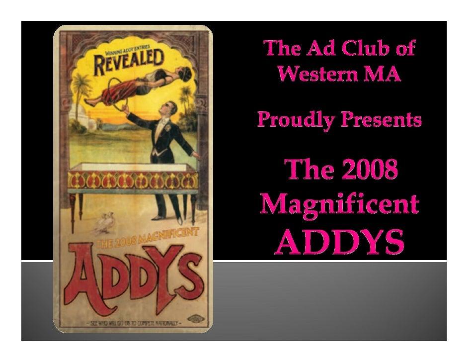 2008 Addy Award Winners