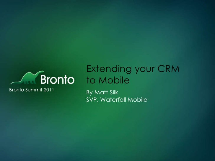 Extending your CRM to Mobile_april 2011