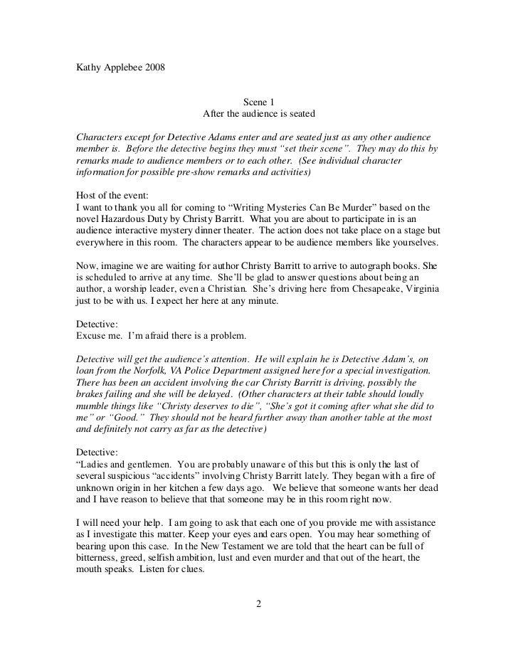 murder mysteries essay .