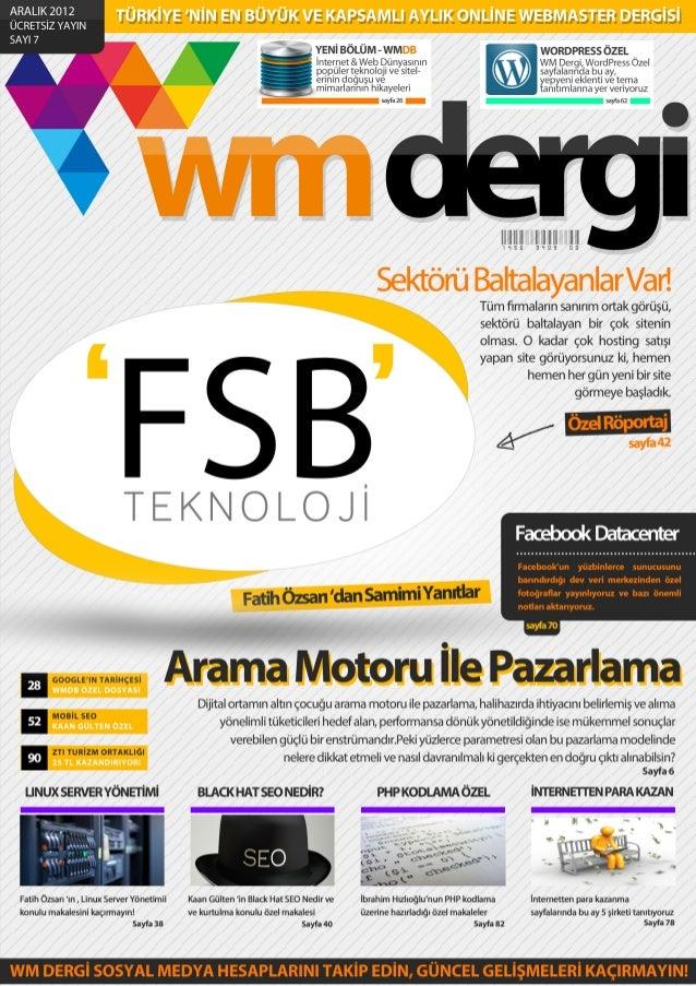 WM Dergi - 7.SAYI